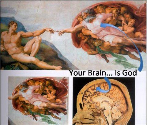 seu cérebro é deus