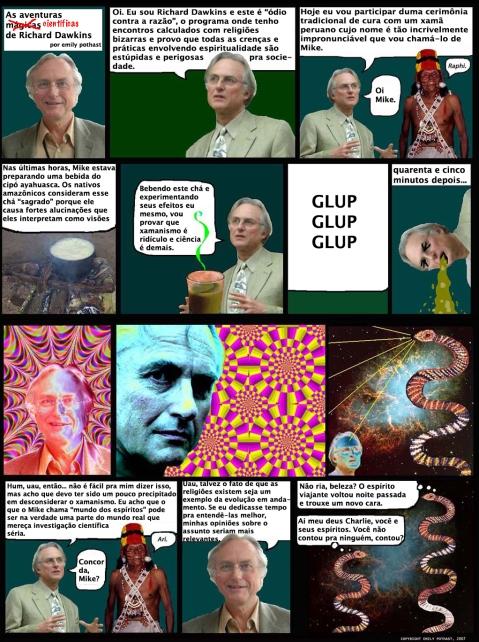Richar Dawkins toma ayahuasca