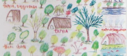 detalhe desenho da Aldeia Tukum